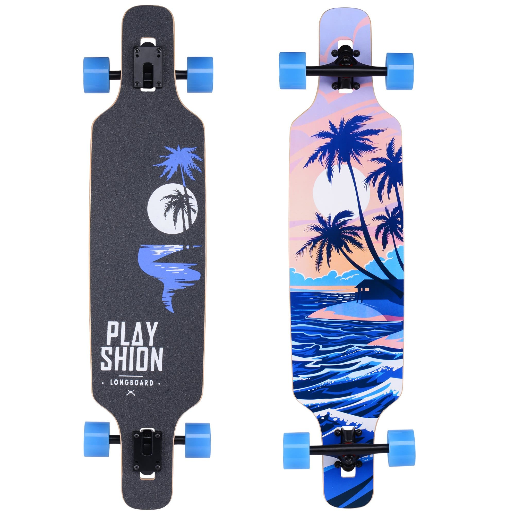 Playshion Drop Through Freestyle Longboard