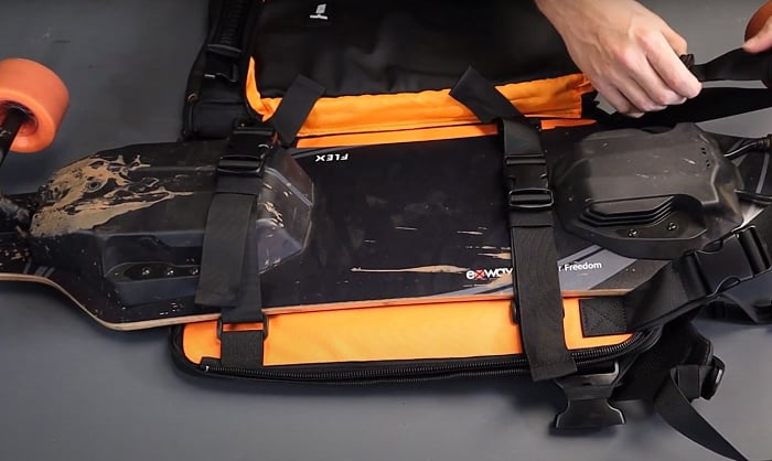 Taking care of long board backpack