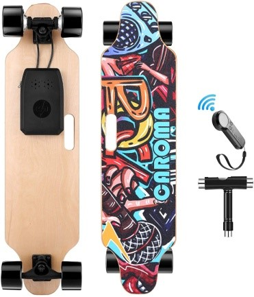 """Caroma 36"""" Electric Skateboard with Remote"""