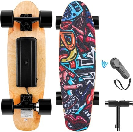 Wookrays Electric Skateboard with Remote